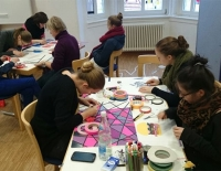Featured image: tape art workshop- koblenz music academy- Ostap 2013