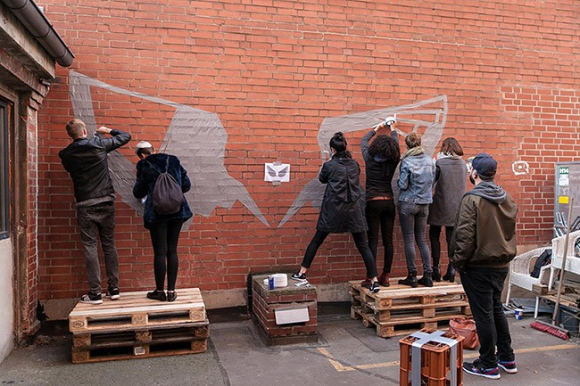 Tape street art workshop- Selfmadecrew for red bull