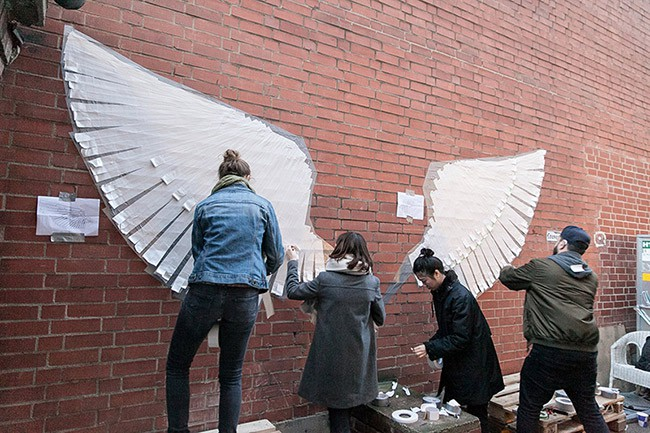 Tape art workshop for Red Bull in Berlin