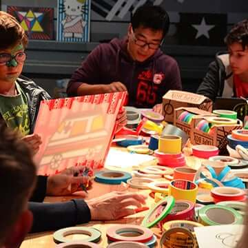 Tape art workshop by Selfmadecrew-featured image