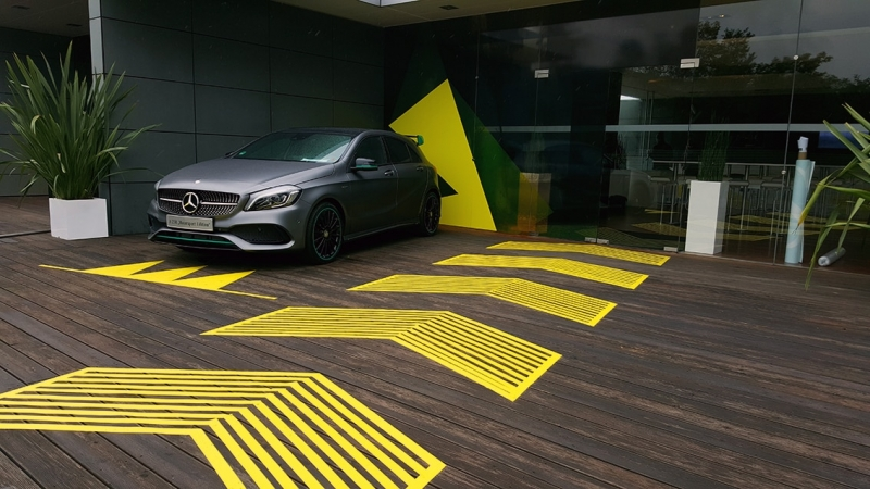 Image- Tape art for Mercedes AMG - by Selfmadecrew 2015