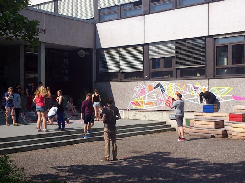 Tape-street-art-workshop-high-school-Ostap-2014