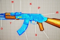 Featured image of AK-47 Tape Art by Ostap