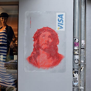 Jesus VISA Karte- Street Art- Ostap 2014