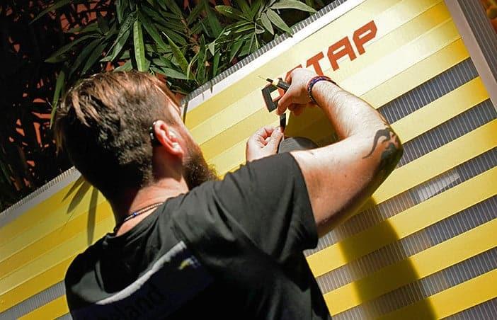 Tape artist Ostap at work