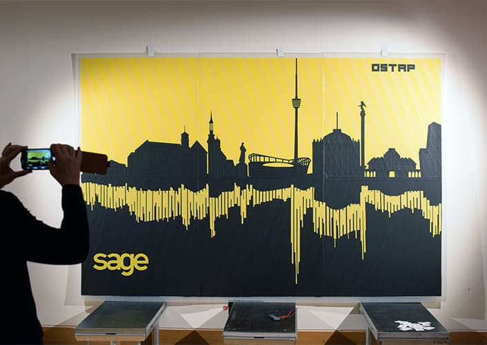 Tape-Art-Tour 2016 Stuttgart Skyline
