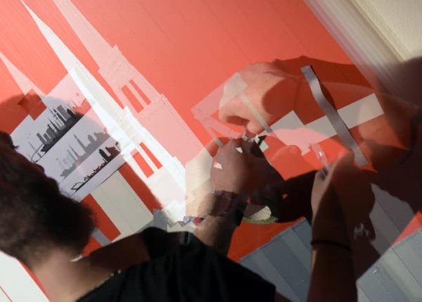 Live Tape Art Show- Kollage-Hamburg