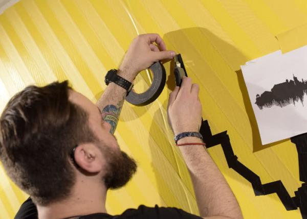 Tape Art Künstler- Live Show- Dortmund 2016