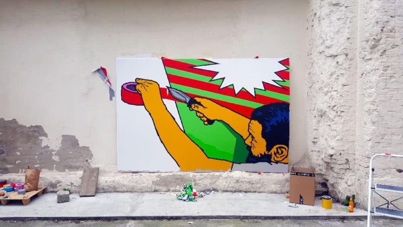 Making-off Tape Art Künstler Ostap-Selbstporträt
