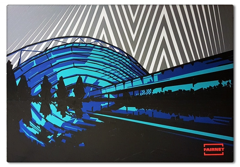 Post image- Commission tape art for Leipziger Messe- Ostap 2016