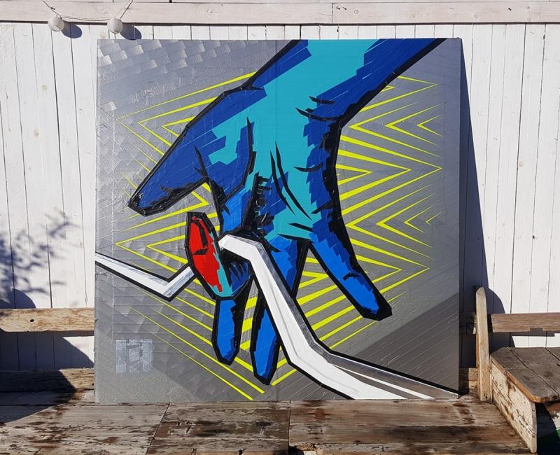Bild 5- Selfmade crew Logo-Tape Street Art- Rooftop Gallery Jam-Berlin-2016