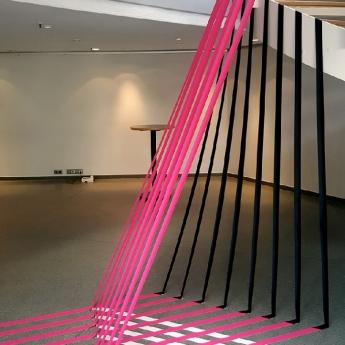 Bild 01 - 3D Installation mit Klebeband für Gruner+Jahr Event- Selfmadecrew 2016