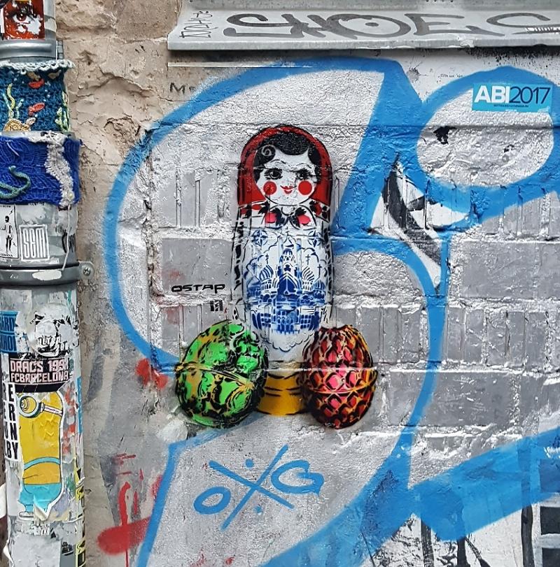 Bild 02- Matroschka- Street Art by Ostap-Haus Schwarzenberg-Berlin