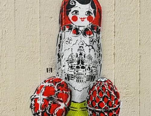 """Matroschka""- Schablonen Street Art"