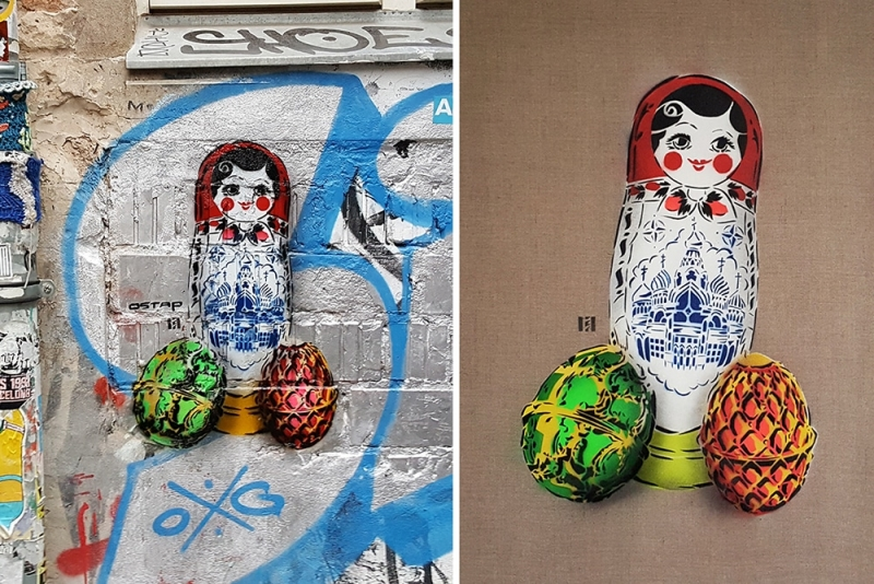 Post image- Matreshka- Street Art by Ostap- 2016