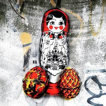 Matroschka und Faberge Eier- Street-Art-Vorschaubild