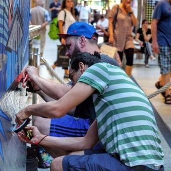 Bild 4- Selfmadecrew-live taping- Street Art Festival-2016