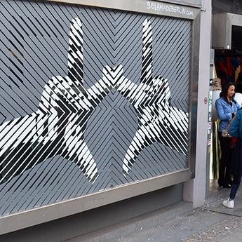 Duct Tape-Optical Street Art- The Haus Berlin
