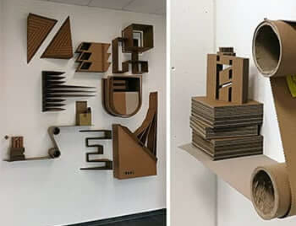 """ZERHUSEN""- 3D Cardboard Graffiti"