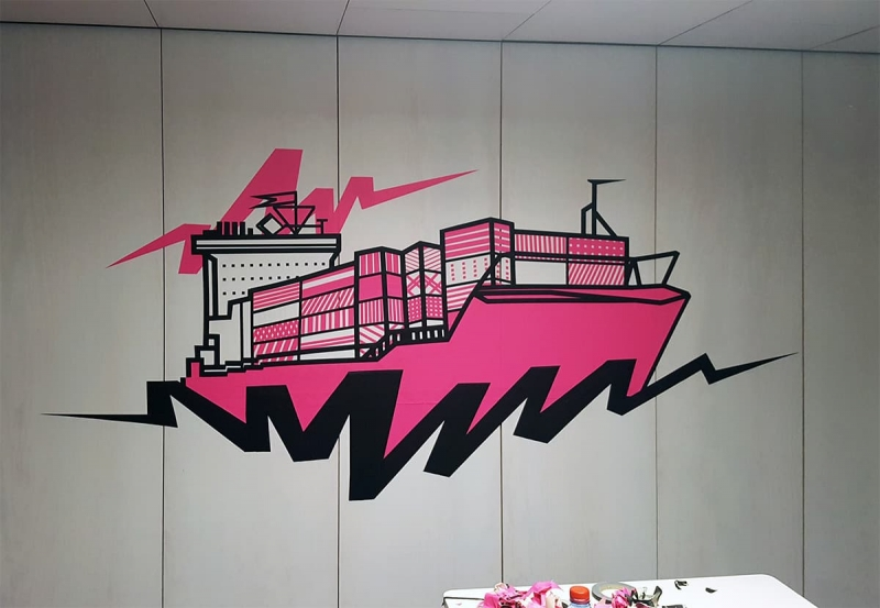 Cargo-tape-art-google-office-gestaltung-selfmadecrew-zurich-2016