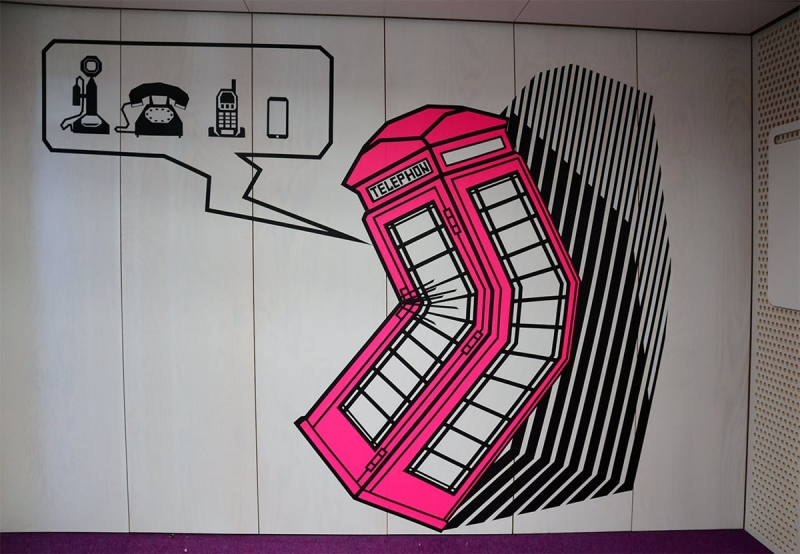 Telephone-cell-duct-tape-artwork-gmail-office-design-zurich-selfmadecrew-2016