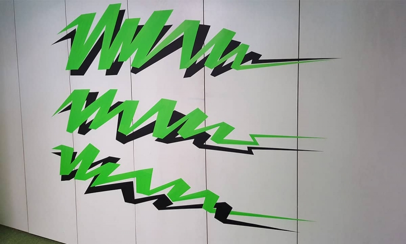 Text-duct-tape-artwork-google-office-design-zurich-selfmadecrew-2016