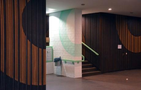 Abstraktes Innendesign-Felix Rodewaldt- Selfmadecrew-Huzur Street Art Bülowstrasse