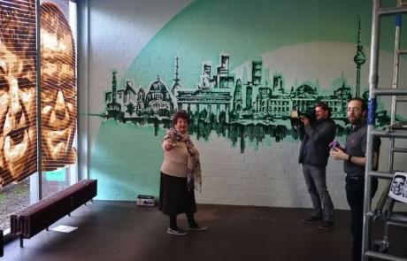 Einwohnerin Irina erzählt über ihres Porträt im Fernsehen
