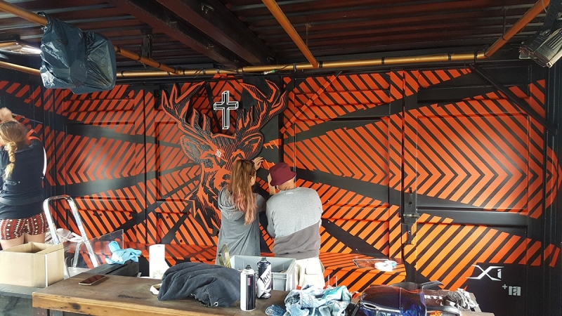 Making of Jägermeister Festival Deer Interior Design