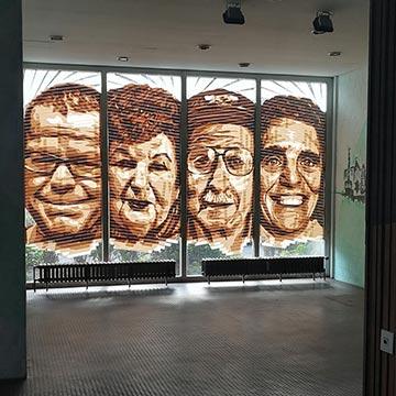 Four tape portraits-Street Art Bülowstraße- Urban Nation- thumbnail