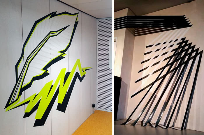 Tape and Street Art projects- artworks gallery by Selfmadecrew