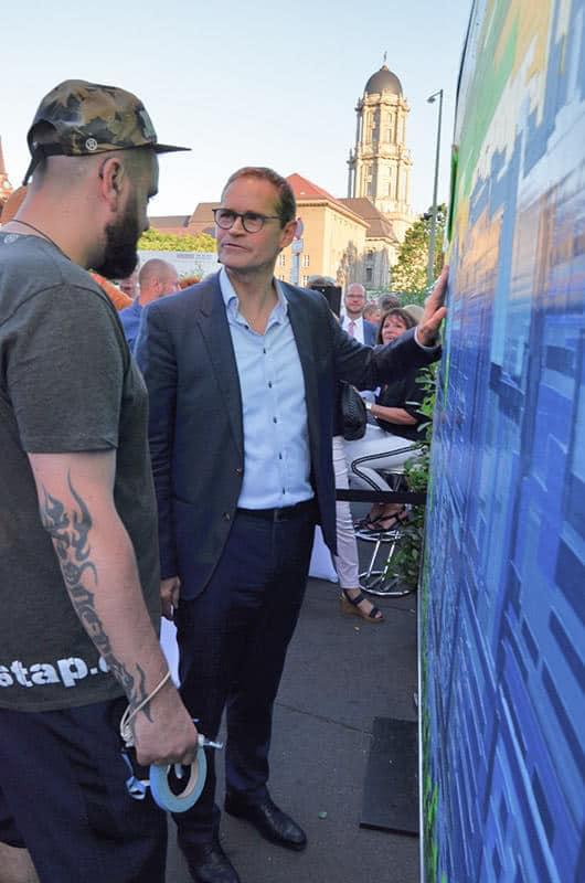 Kunstgespräche- Berliner Bürgermeister und Slava Ostap