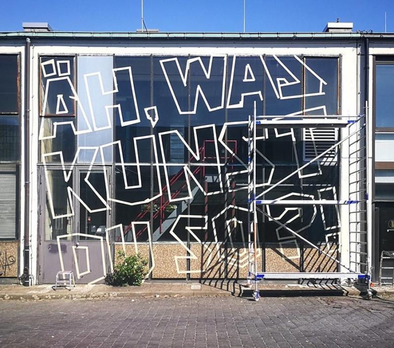 Es geht los- Fassade für Berlin Mural Fest 2018