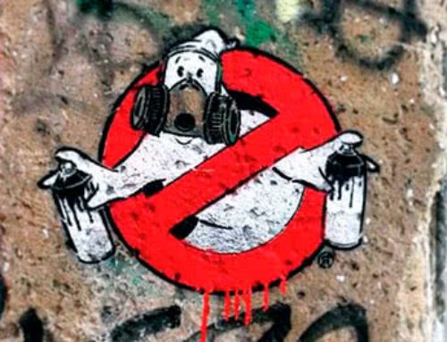 """GraffitiBusters""- Fake Guerrilla Werbung"