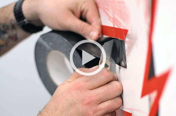 Tape Art Making-off- Video Sammlung