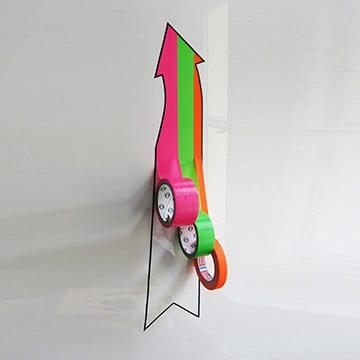 3D graffiti arrow with tape rolls