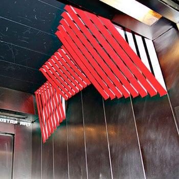 Parallele Linien Design- Abstraktes 3d Wandmalerei mit Klebeband-2012