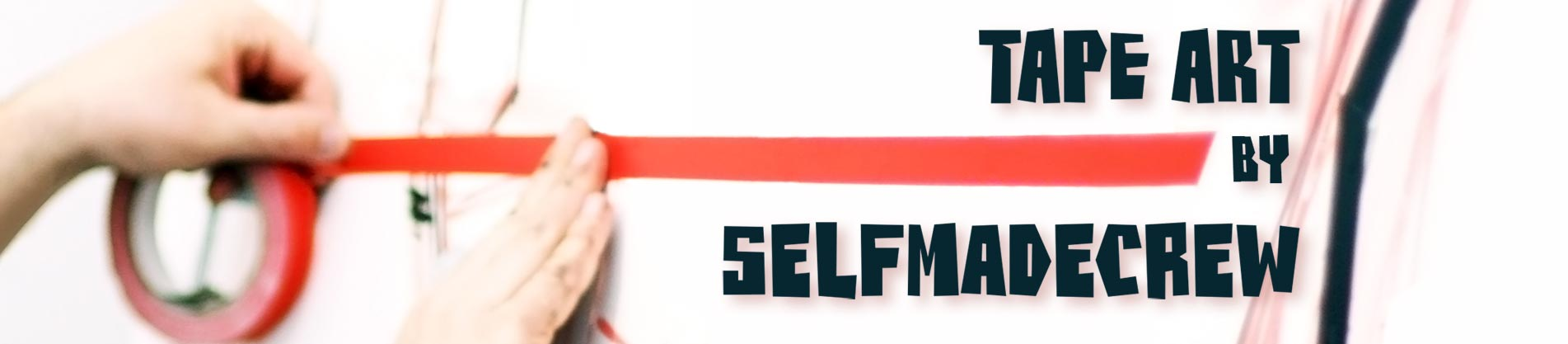 Tape Art by SELFMADECREW- Die Vielfalt der Klebe-Kunst Logo