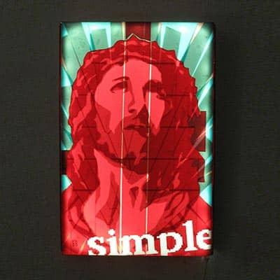 Simple Pop, 2013, Packband, Lightbox, 40x30 cm