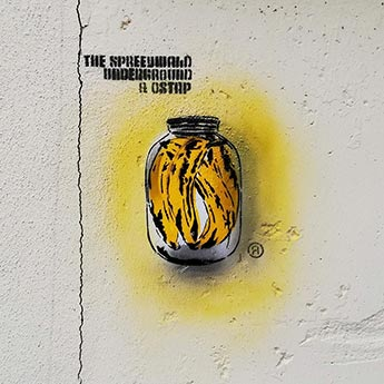 Spree Can (Serie) 2013-2019, Stencil, Sprühfarbe