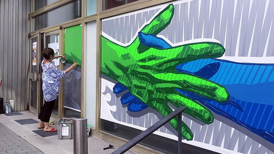 Kunstwerke aus GAFFA (Gewebe)Klebeband von Ostap & Selfmadecrew- Desktop Coverbild